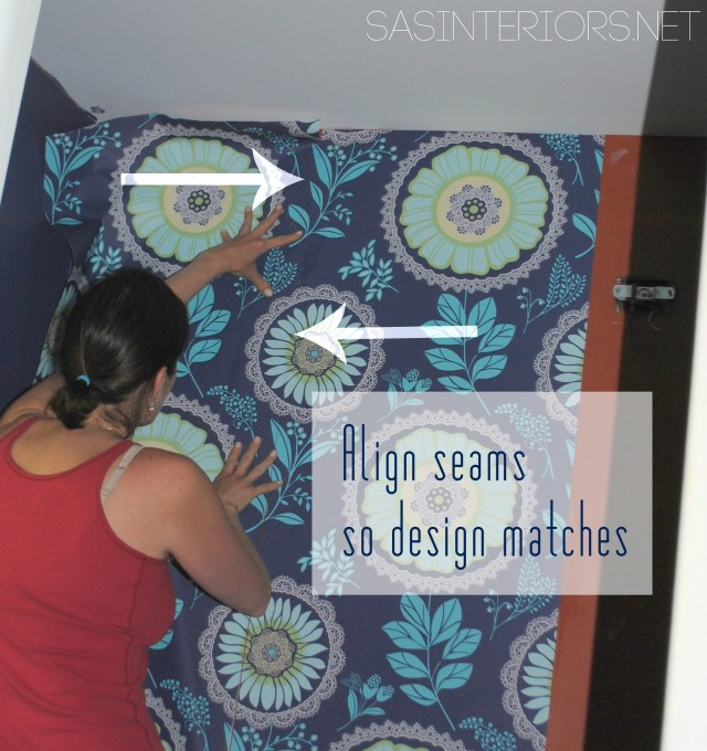 Powder Room Remodel: Patching holes and hanging wallpaper - Follow along on this bold transformation #powderroomremodel