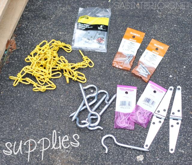 Supplies for the Vertical Pallet Garden Bench
