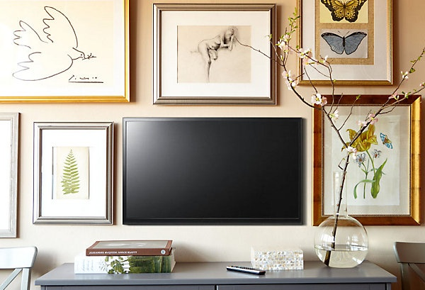 Ideas + Solutions for the Wall Behind the TV by @Jenna_Burger, WWW.JENNABURGER.COM