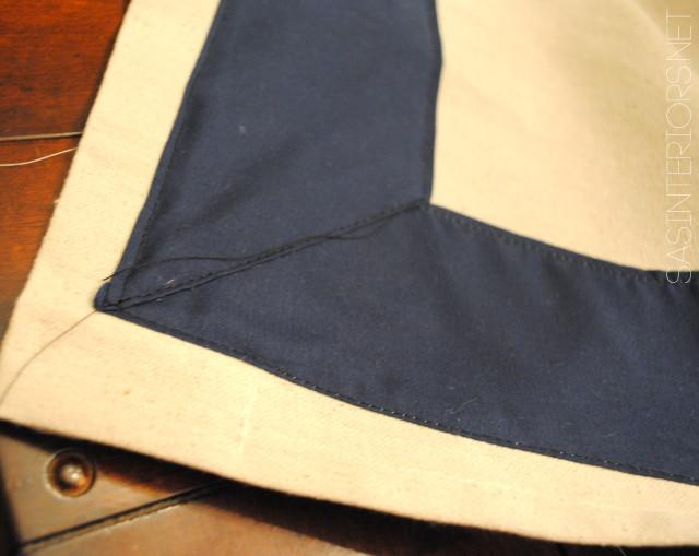 DIY: Drop Cloth Window Panels with Leading Edge Detail. High-end look for less than $20 to make. via @Jenna_Burger, WWW.JENNABURGER.COM
