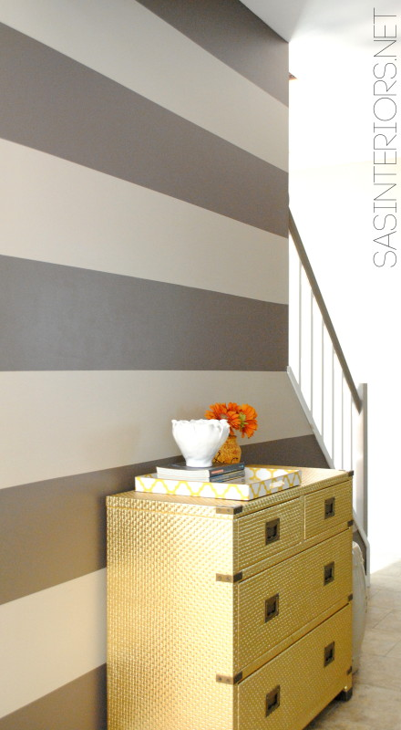 Tips + Tricks for painting straight, crisp, perfect stripes