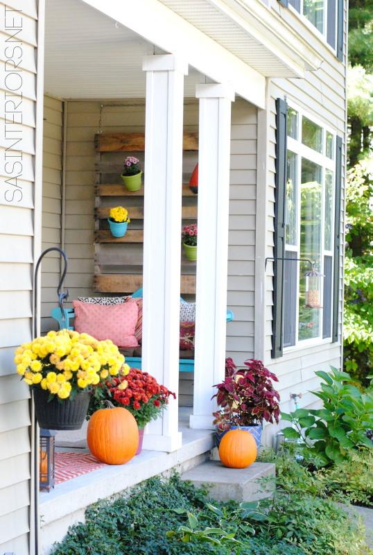 Fall Front Porch by @Jenna_Burger, WWW.JENNABURGER.COM