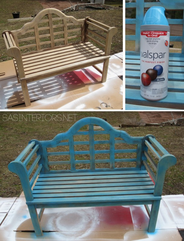 Lutchens Bench before and after by @Jenna_Burger of WWW.JENNABURGER.COM