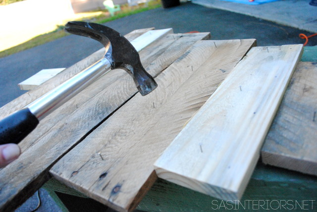 Christmas Countdown Calendar using pallets and scraps of leftover wood.  Created by @Jenna_Burger, www.sasinteriors.net