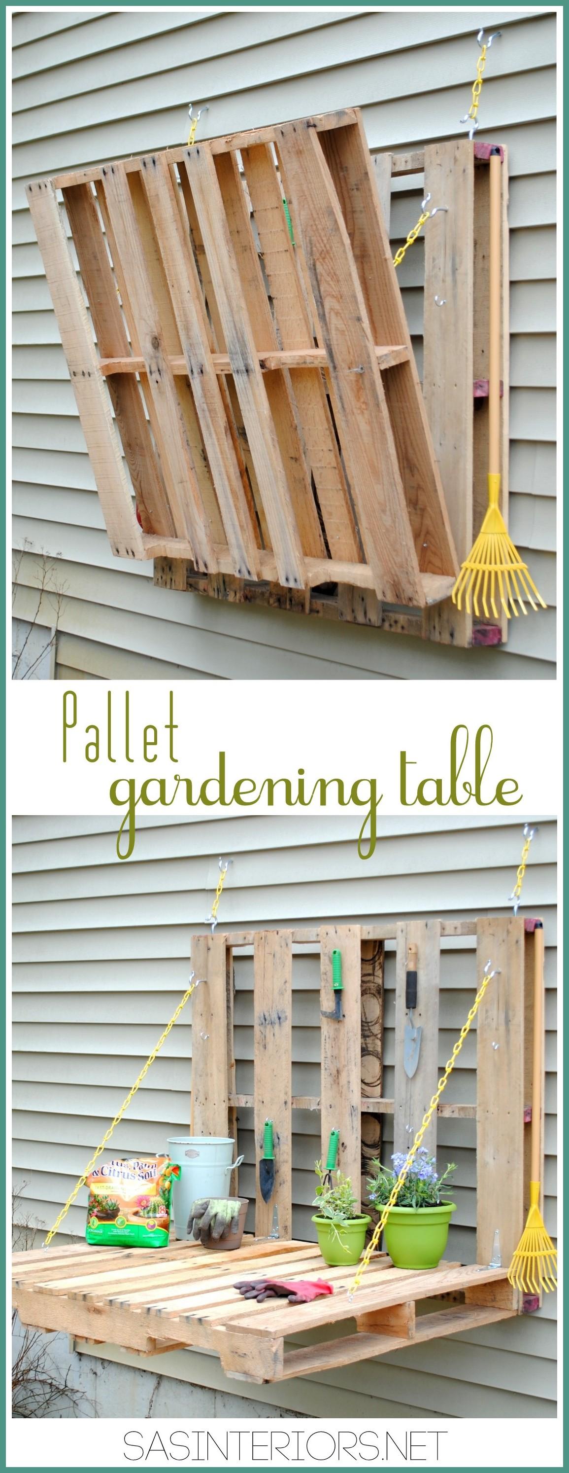 DIY: Vertical Garden Table