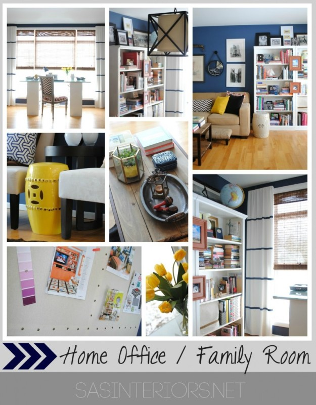 Newly design home office + family room