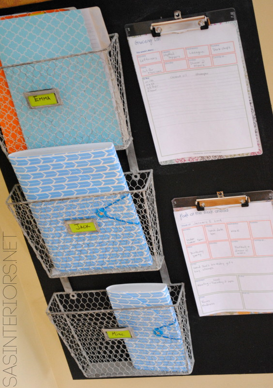 "Family Central Command Center - Design it to fit your family needs! Created by @Jenna_Burger, WWW.JENNABURGER.COM. Featured in Better Homes and Gardens ""I Did It"""