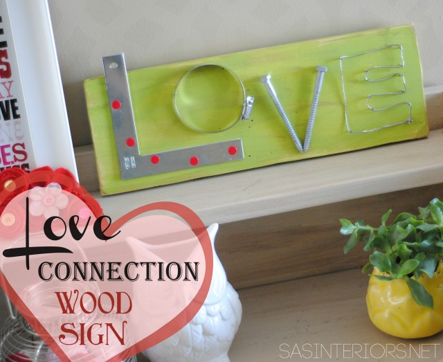 Valentines Love Connection Wood Sign created by @Jenna_Burger, WWW.JENNABURGER.COM