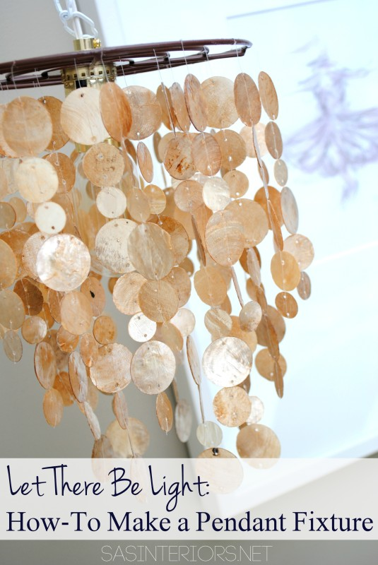 Let there be light: How-To turn a pendant into a light fixture; Tutorial by @Jenna_Burger, WWW.JENNABURGER.COM
