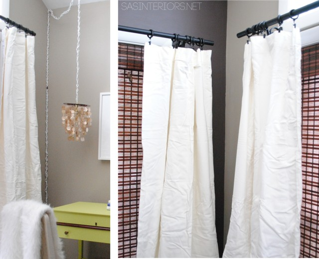 Store Bought curtains 'before'