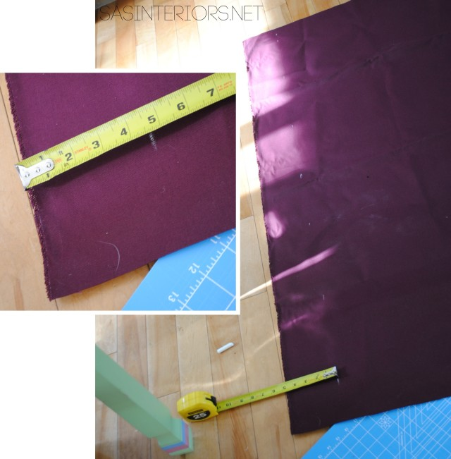 Add a leading edge to customize any store bought window curtain panel - Tutorial by @Jenna_Burger, WWW.JENNABURGER.COM