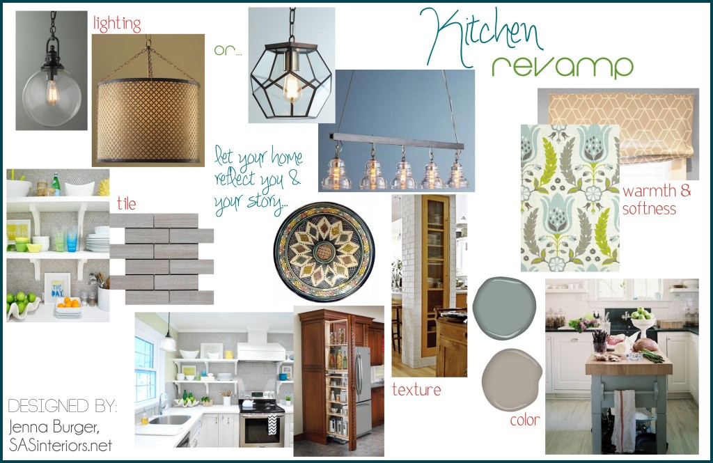Creative Vision Board for Kitchen Remodel