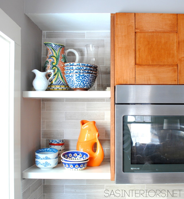 Open Shelving for the Kitchen Remodel