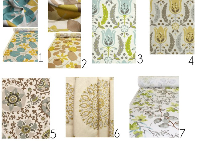 Fabric Options for the Kitchen Remodel