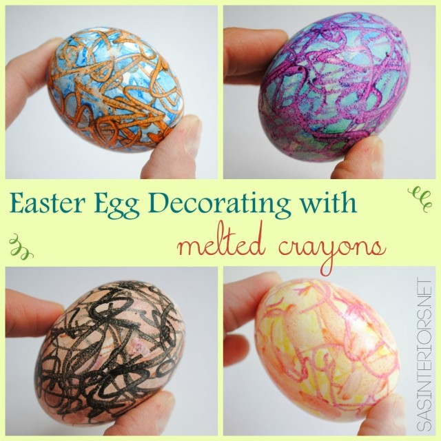Create colorful EASTER EGGS using Melted Crayons. It's easy to do + KIDS will LOVE it. Read the tutorial now or Pin for Later!