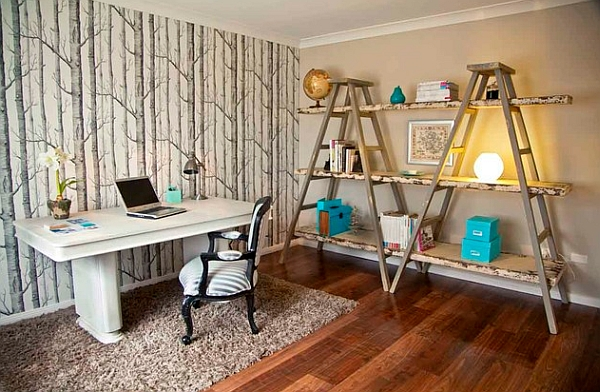 Decorating with Leaning + Ladder Shelves - Leaning Shelves are affordable, open + airy, and bring great height to a space. So much inspiration + ideas in THIS POST!