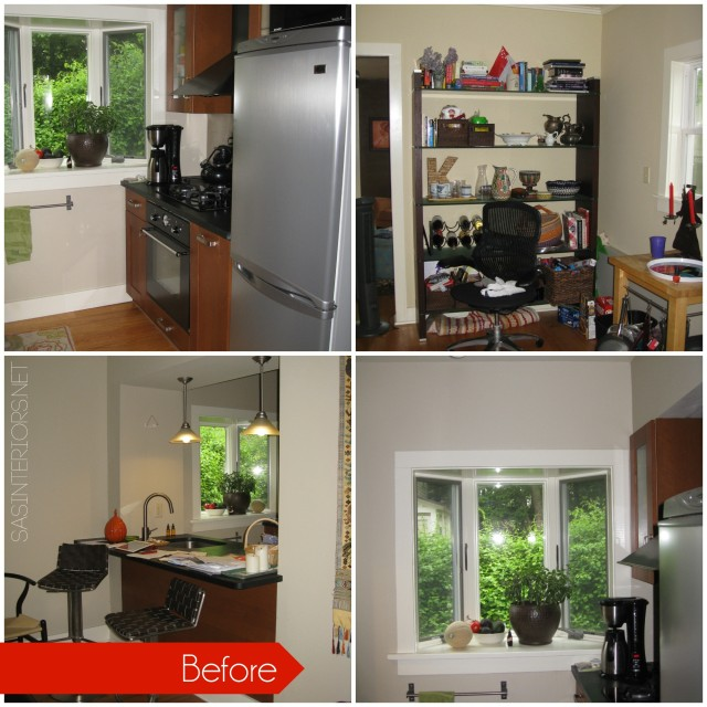 before pictures of a Kitchen Remodel: Integrating / Reusing existing Ikea cabinets with new custom cabinets to match. Transformation is INCREDIBLE!