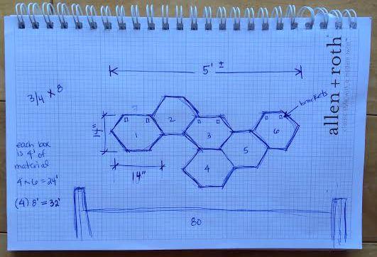 Design 1 for honeycomb shelves