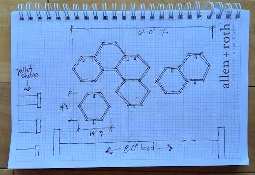 Design 2 for honeycomb shelves