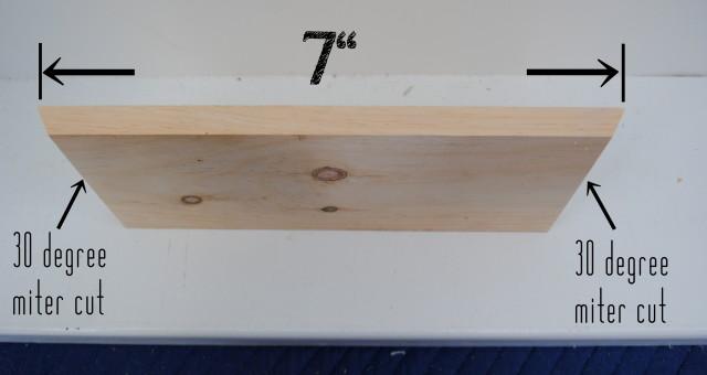 Size of cut for honeycomb shelf