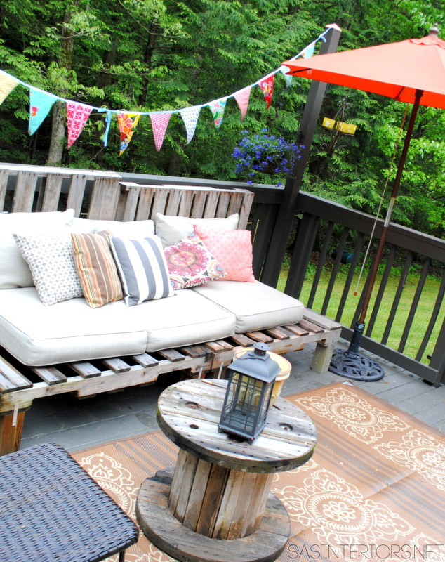 An Outdoor Deck for Outdoor Living: sharing our outdoor oasis where we'll be spending lots of time over the next few months!