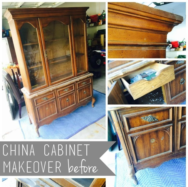 China Cabinet >>> before - details prior to the makeover