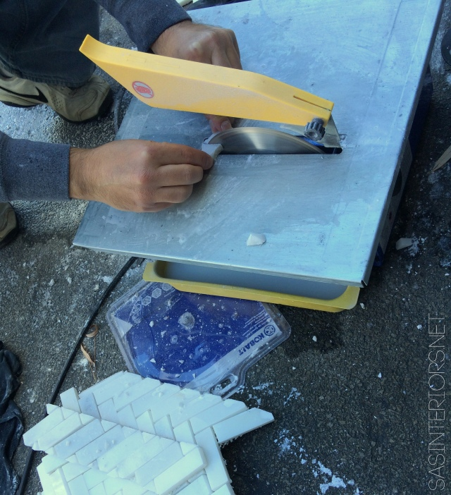 Using a wet saw will give you precise cuts for your tile. Ideal with larger and thicker tile!