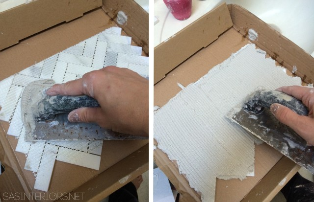 How-To Tile and Grout a Bathroom tub area: tips & tricks to do it yourself. Follow along on this DIY bathroom remodel!