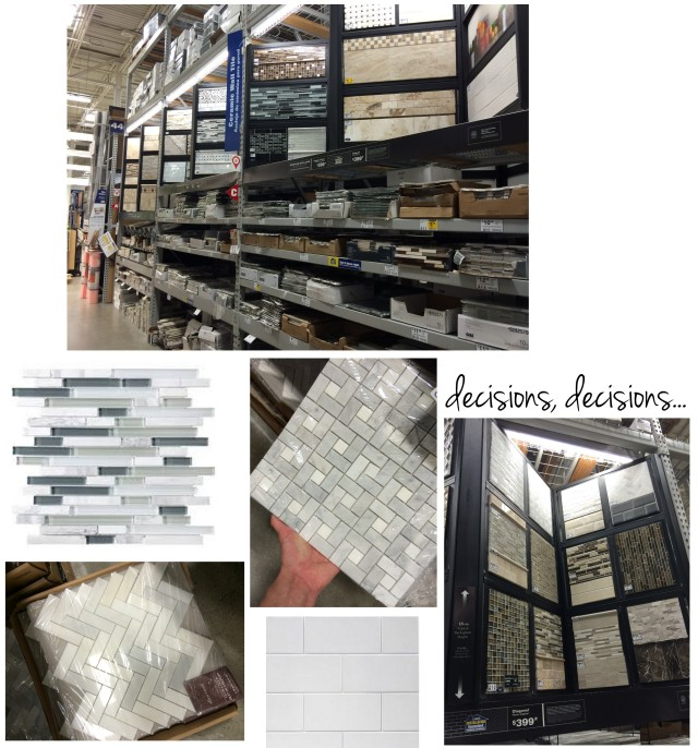 Walking the aisles of Lowe's searching for the right tile