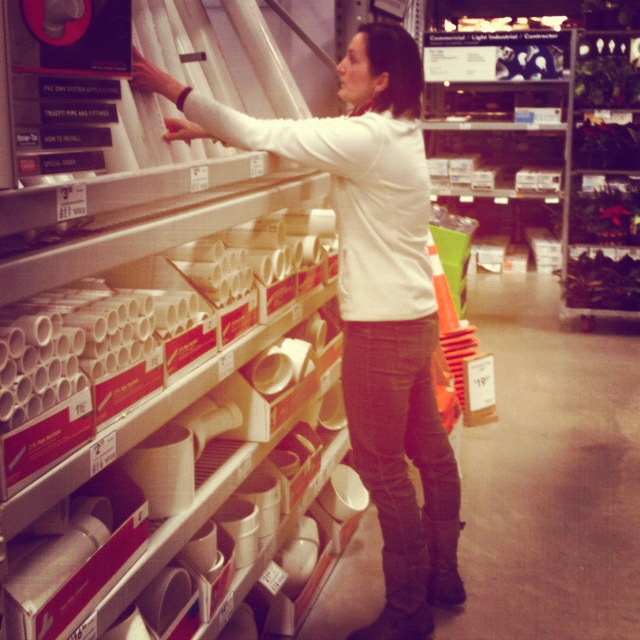 Scouring the aisles of Lowes