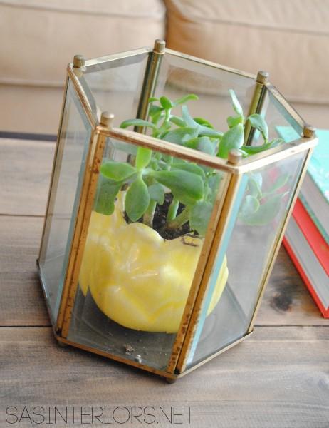 Trash to Treasure: Upcycled Light to Vase created by @Jenna_Burger, sasinteriors.net