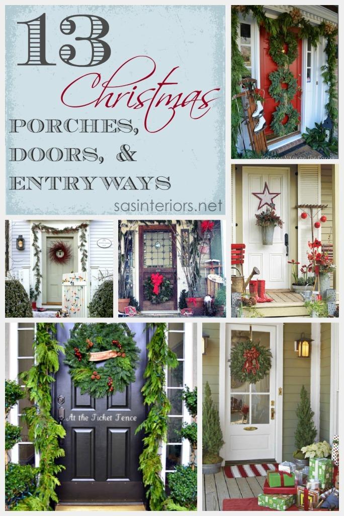 Christmas Porchesa, Doors, and Entryways