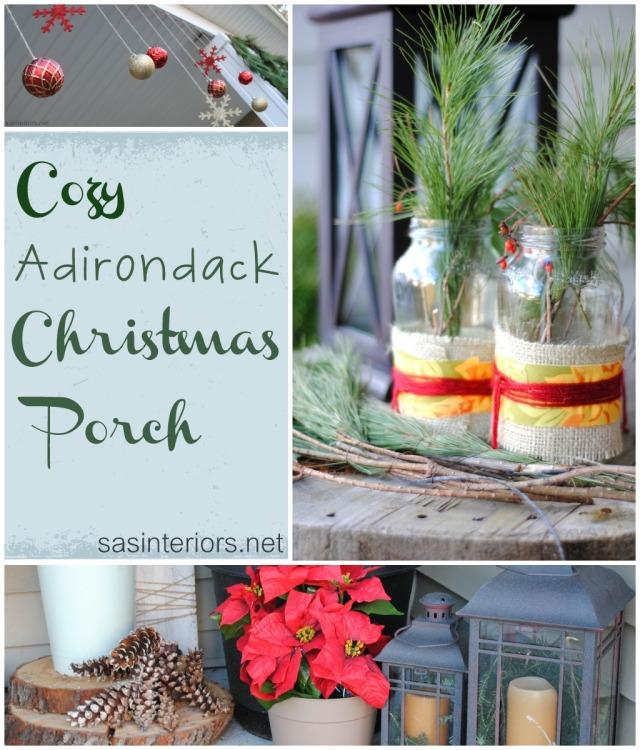 Cozy Adirondak Christmas Porch