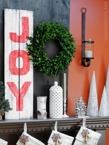 J-O-Y Sign using pallets & paint {DIY tutorial}