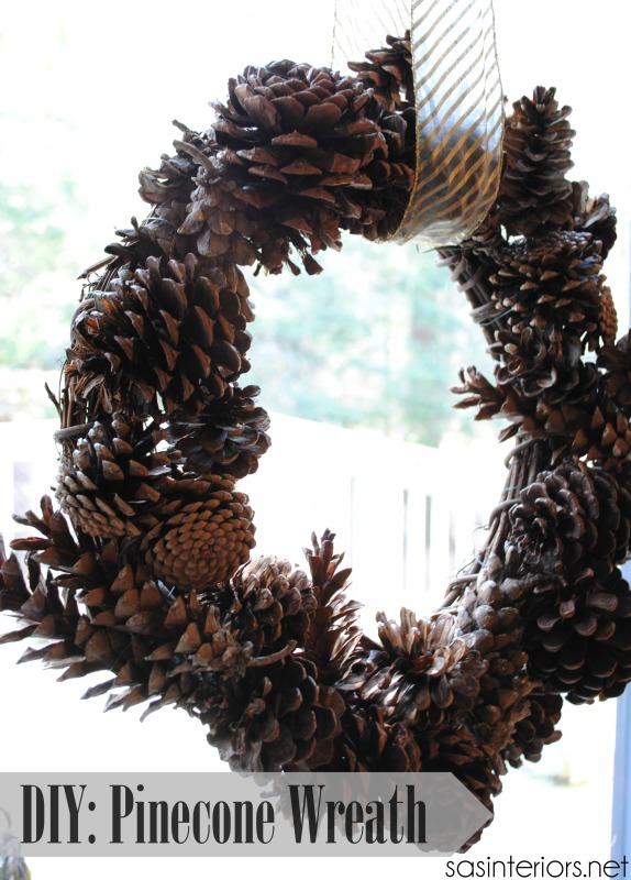 Pinecone Wreath {DIY tutorial}