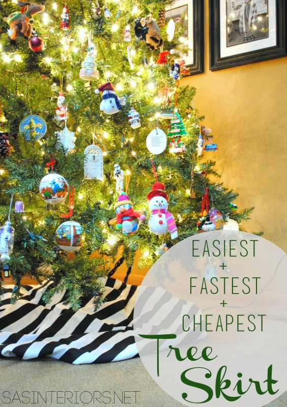 The Easiest + Fastest + Cheapest Tree Skirt EVER!