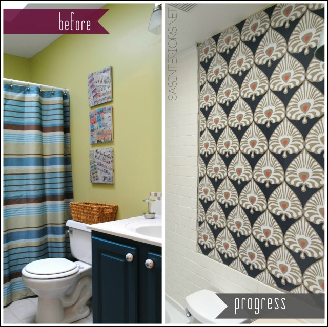 Bathroom Remodel: before & progress / Check out this DIY bathroom makeover