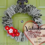 DIY: Valentine burlap wreath with handmade felt flowers by @Jenna_Burger, SASinteriors.net