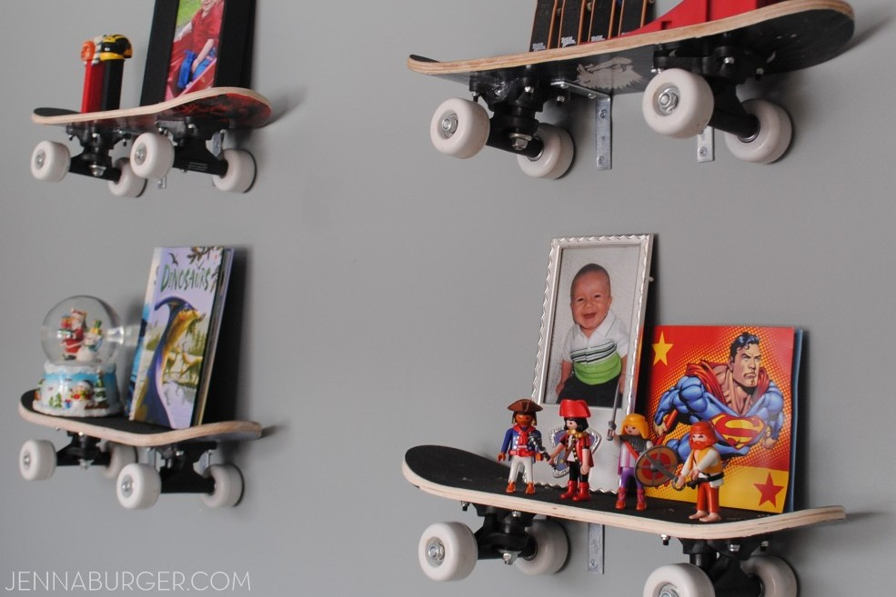 Diy Skateboard Shelves Perfect For A Boys Room Young Or Old Super