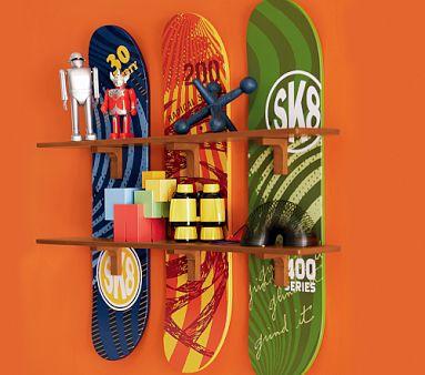Skateboard Shelf skateboard shelves - jenna burger
