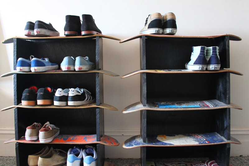 This is the skateboard shelf ...