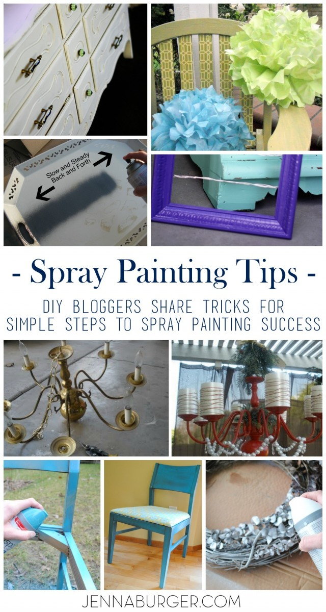 Spray Painting Tips from the Pros: DIY BLOGGERS share tricks for simple steps to spray painting success!