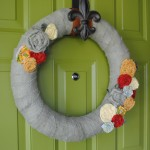 Fall Wreath with Fabric Flowers