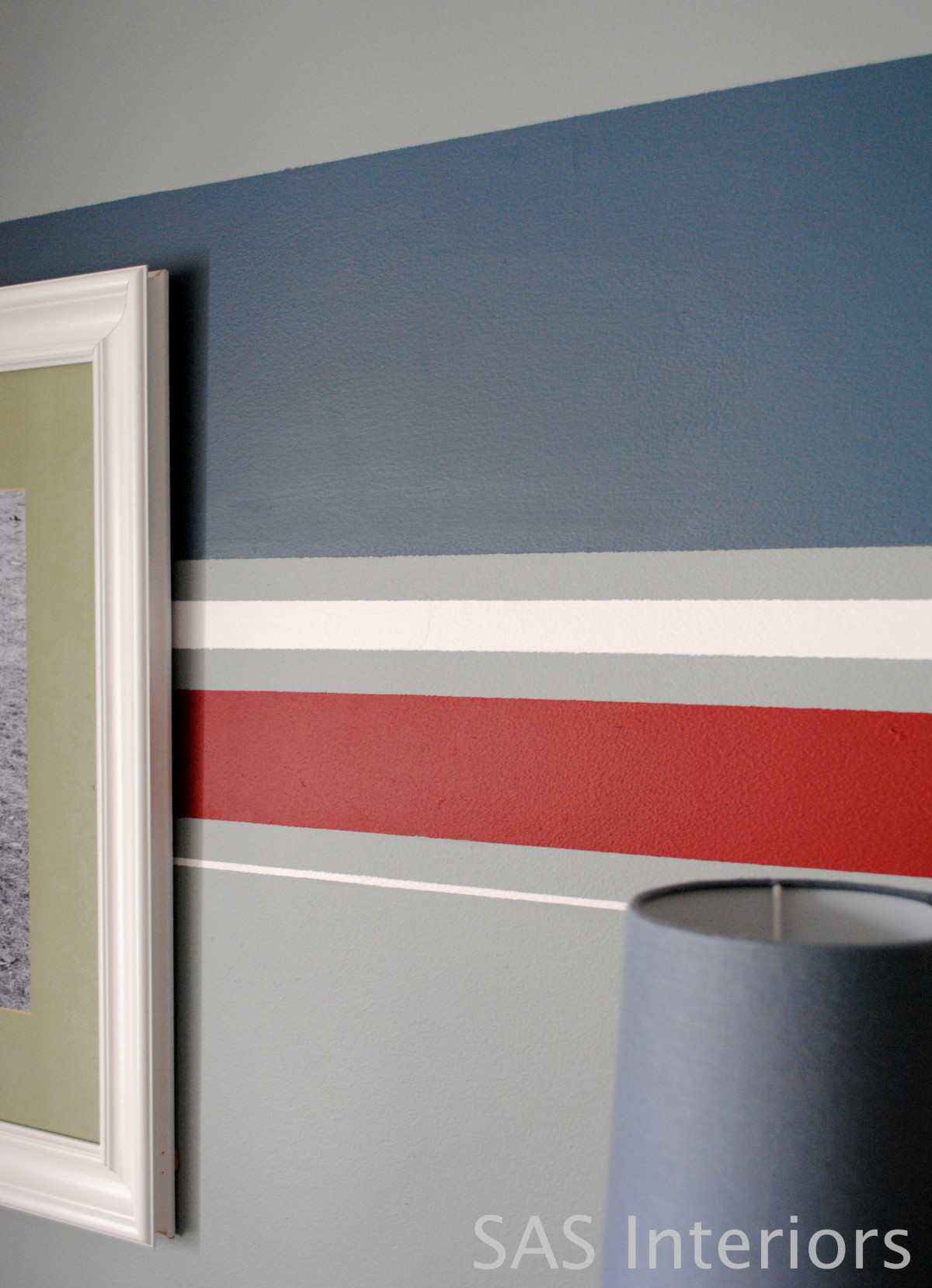 Wall paint ideas stripes - Over