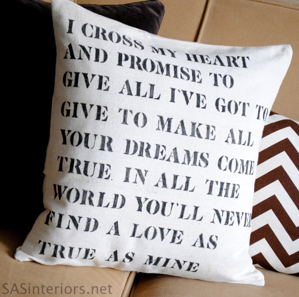 It S My Wedding Day Quotes: Wedding Lyric Stencil Pillow