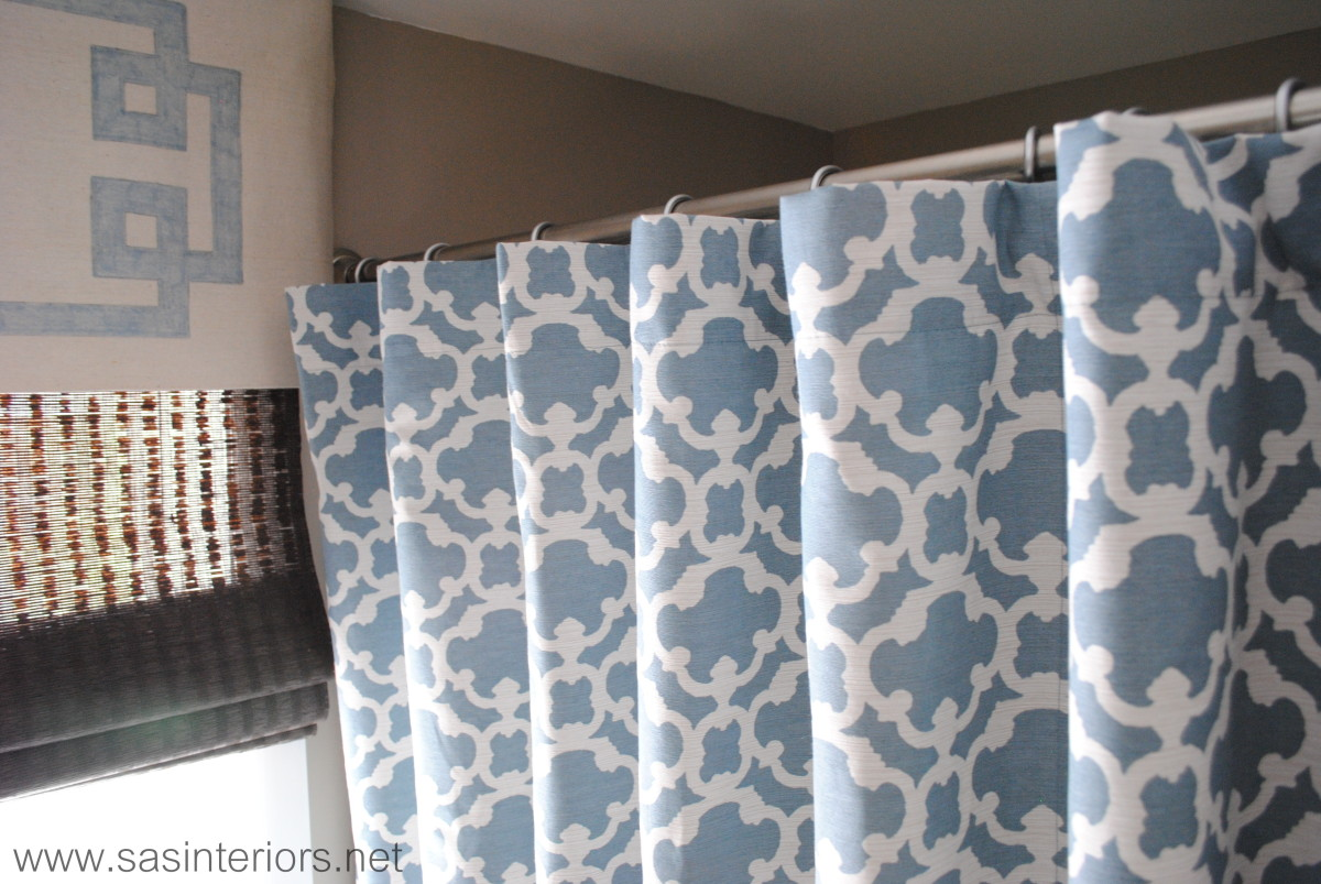 How To Make Any Curtain Into A Shower Curtain Jenna Burger - Shower curtains for bathroom