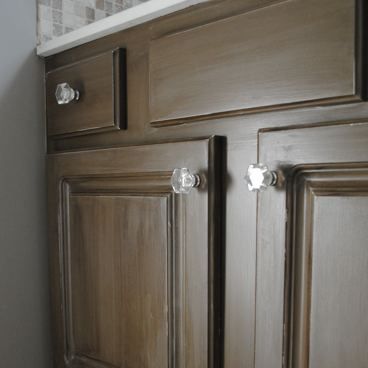 Glazing White Cabinets With Stain