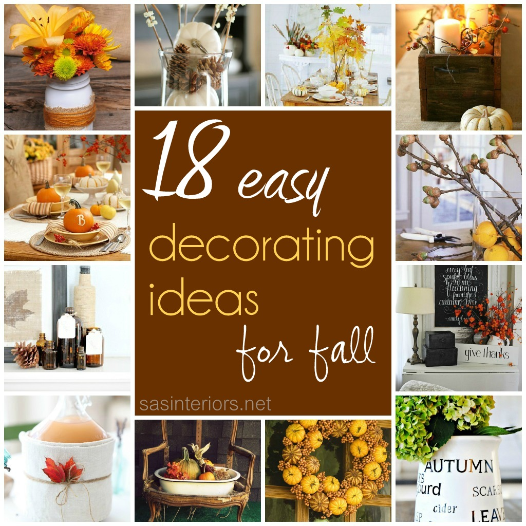 Simple Home Art Decor Ideas: 18 Easy Decorating Ideas For Fall