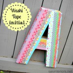 DIY: Washi Tape Initial