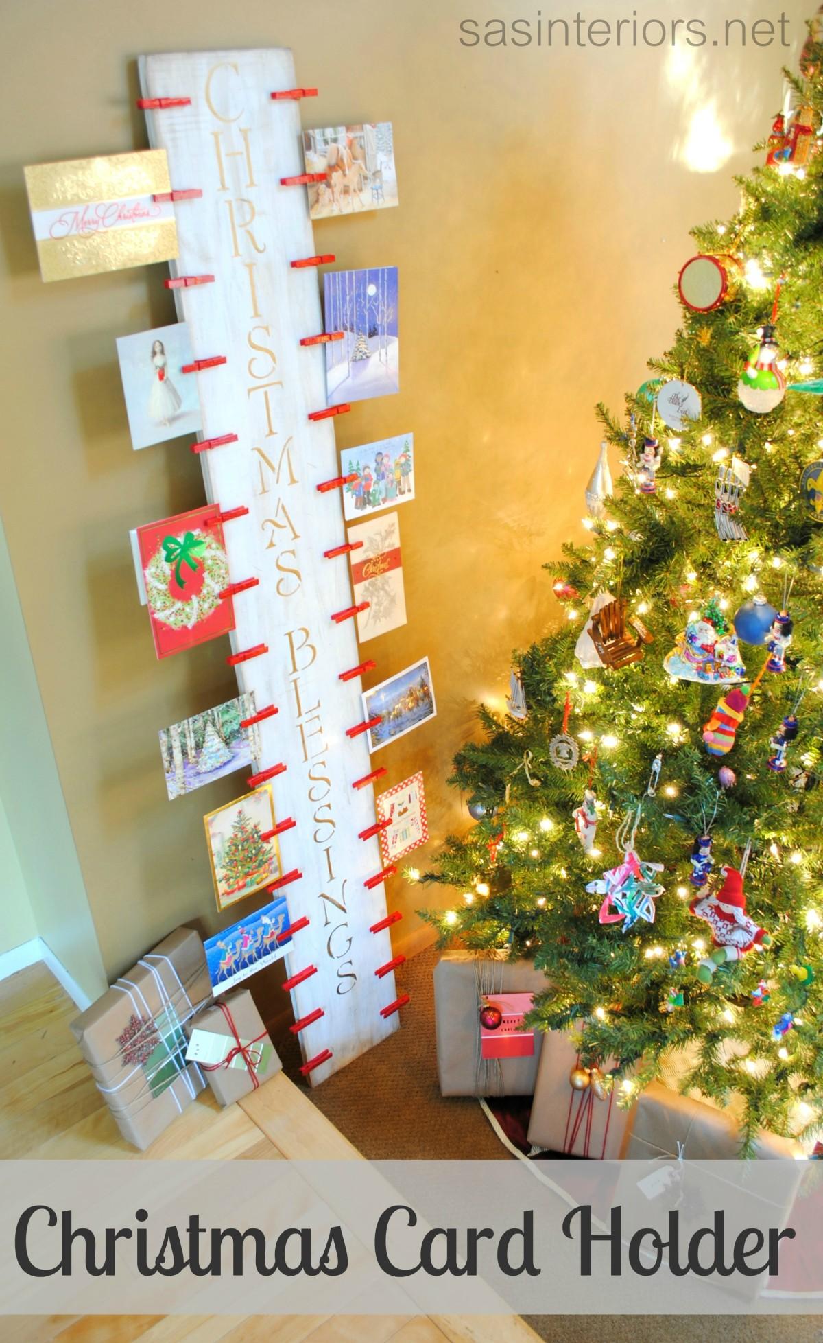 Christmas Card Holder A Lowes Creative Idea Lowescreator Jenna Burger Design Llc